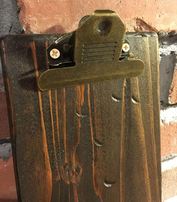 Restaurant Menu Clipboards with Hanging Clip