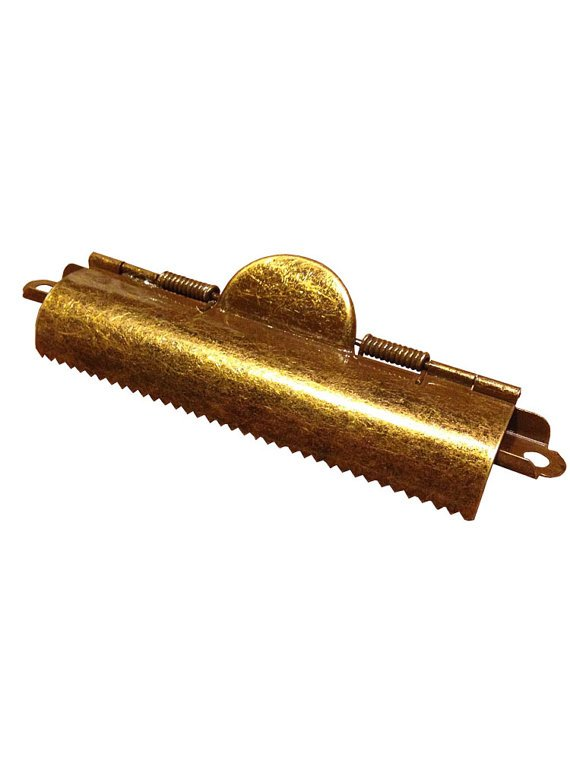 Rustic Style Large Domed Brass Clipboard Clip