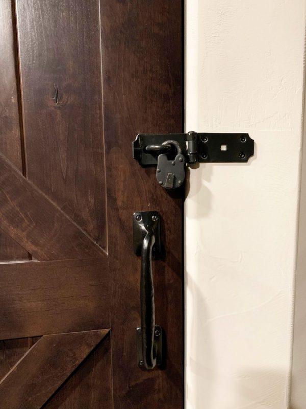 Vintage Iron Lock and Skeleton Key