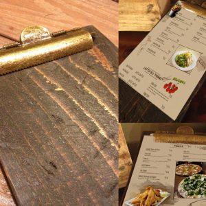 Restaurant Menu Clipboards
