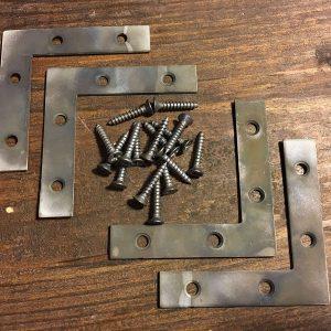 Rustic Flat Corner Braces - Small