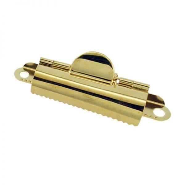 Small Brass Domed Clipboard Clip