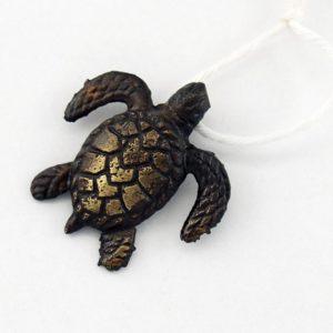 Rustic Turtle Pendant